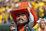 OSU's mascot in action during the game between the OSU Cowboys and the Baylor Bears at the McLane Stadium in Waco, Texas.