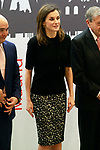 Queen Letizia of Spain during the presentation of the International Friendship Award to Chinese businessmen Eric X. Li, president of Chengwei Capital; Lin Liangqi, president of Akso Nobel China; Sun Yafang, president of Huawei; and Celina Chew, president of the Bayer Group in China. April 9, 2018. (ALTERPHOTOS/Acero)