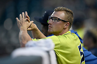 Infielder Chandler Avant (5) of the Columbia Fireflies in a game against the Augusta GreenJackets on Thursday, July 11, 2019 at Segra Park in Columbia, South Carolina. Columbia won, 5-2. (Tom Priddy/Four Seam Images)