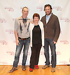 Nigel Gore, Tina Packer & director Eric Tuckerattending the Meet & Greet for Tina Packer's 'Women of Will' at The Gym at Judson in New York City on 1/16/2013
