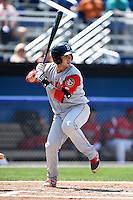 Brooklyn Cyclones catcher Tomas Nido (7) at bat during a game against the Batavia Muckdogs on August 10, 2014 at Dwyer Stadium in Batavia, New York.  Brooklyn defeated Batavia 5-2.  (Mike Janes/Four Seam Images)