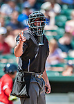 31 May 2018: Easter League MiLB Umpire Jacob Metz works home plate during a game between the New Hampshire Fisher Cats and the Portland Sea Dogs at Northeast Delta Dental Stadium in Manchester, NH. The Sea Dogs defeated the Fisher Cats 12-9 in extra innings. Mandatory Credit: Ed Wolfstein Photo *** RAW (NEF) Image File Available ***