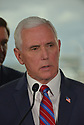 FORT LAUDERDALE, FLORIDA - MARCH 07: U.S. Vice President Mike Pence, during a press conference after participating in a discussion held at Port Everglades Administration Building about possible coronavirus (COVID-19) issues that the cruise line company leaders are experiencing on Saturday on March 07, 2020 in Fort Lauderdale, Florida. U.S. Vice President Pence and the coronavirus task force are heading up the efforts to combat the virus in the United States.  ( Photo by Johnny Louis / jlnphotography.com )