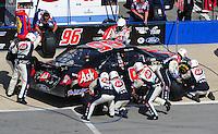Apr 26, 2009; Talladega, AL, USA; NASCAR Sprint Cup Series driver Bobby Labonte pits during the Aarons 499 at Talladega Superspeedway. Mandatory Credit: Mark J. Rebilas-