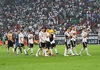 Mannschaft bedankt sich bei den Fans - 08.06.2018: Deutschland vs. Saudi-Arabien, Freundschaftsspiel, BayArena Leverkusen