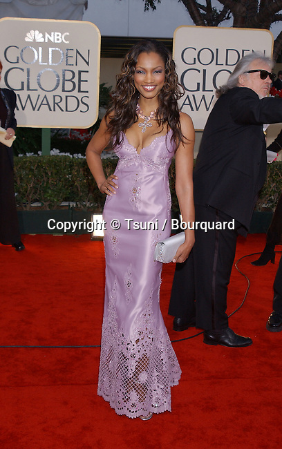 Garcelle Beauvais-Nilon arrives at The 59th Annual Golden Globe Awards held at the Beverly Hilton Hotel in Los Angeles, Ca., Sunday, January 20, 2002.  Beauvais-NilonGarcelle02.JPG