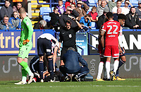 Middlesbrough's Adama Traore  gets a yellow card in the second half of todays match<br /> <br /> Photographer Rachel Holborn/CameraSport<br /> <br /> The EFL Sky Bet Championship - Bolton Wanderers v Middlesbrough - Saturday 9th September 2017 - Macron Stadium - Bolton<br /> <br /> World Copyright &copy; 2017 CameraSport. All rights reserved. 43 Linden Ave. Countesthorpe. Leicester. England. LE8 5PG - Tel: +44 (0) 116 277 4147 - admin@camerasport.com - www.camerasport.com