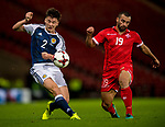 Scotland's Kierran Tierney and Malta's Joseph Zerafa compete for the ball during the World Cup Qualifying Group F match at Hampden Park Stadium, Glasgow. Picture date 4th September 2017. Picture credit should read: Craig Watson/Sportimage