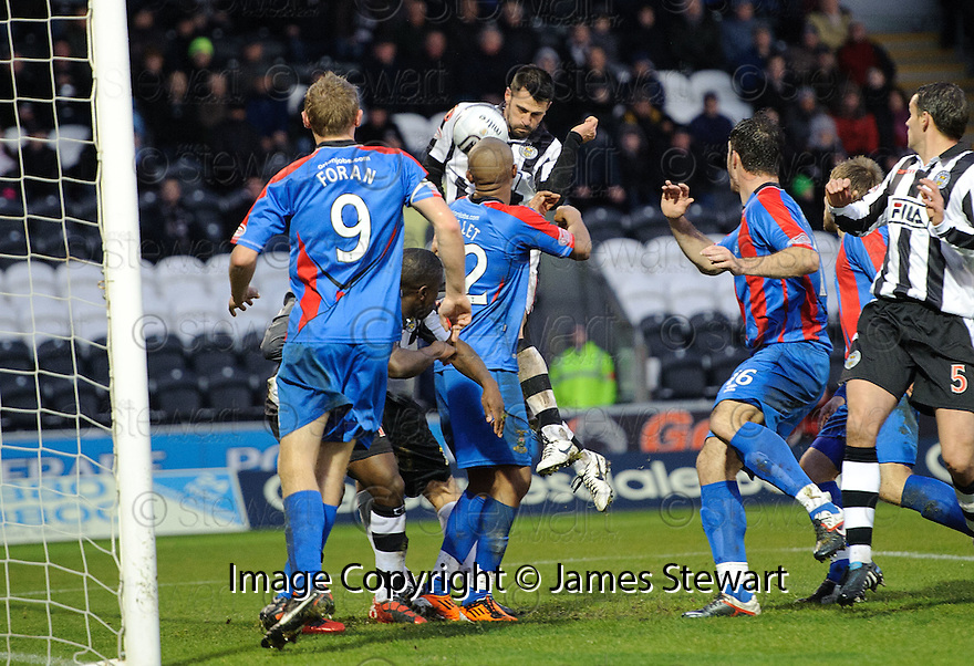 ST MIRREN'S STEVEN THOMPSON SCORES ST MIRREN'S FIRST..03/12/2011   Copyright  Pic : James Stewart.sct_jsp001_st_mirren_v_ict  .James Stewart Photography 19 Carronlea Drive, Falkirk. FK2 8DN      Vat Reg No. 607 6932 25.Telephone      : +44 (0)1324 570291 .Mobile              : +44 (0)7721 416997.E-mail  :  jim@jspa.co.uk.If you require further information then contact Jim Stewart on any of the numbers above.........