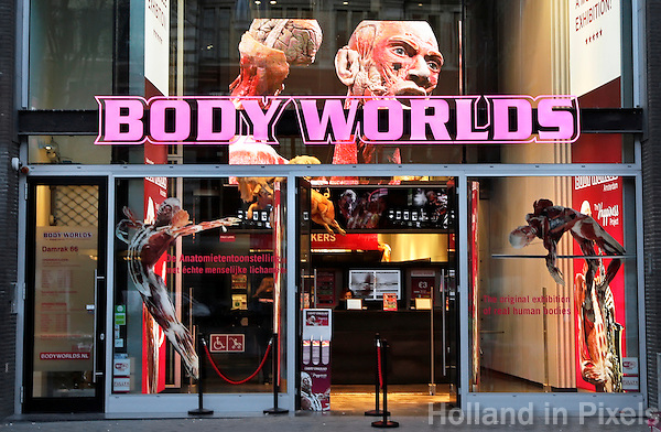 Nederland Amsterdam 2016 . Body Worlds tentoonstelling op het Damrak. Foto Berlinda van Dam / Hollandse Hoogte
