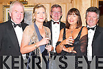 MID-SUMMER: Enjoying the Adi Roche Chernobyl Childrens Project Mid-Summer Ball at The Meadowlands Hotel, Tralee, on Saturday night were, l-r: Jimmy Deenihan, Eileen McNamara, Tony O'Keeffe, Margaret Rose O'Keeffe and Brendan Tracey..