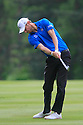Chris Wood of England in action during the final round of the BMW PGA Championship played over the West Course at the Wentworth Club on 24th May 2015 in Virginia Water, Surrey, England. Picture Credit / Phil INGLIS