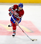 22 November 2008: Montreal Canadiens' left wing forward Alex Tanguay in action against the Boston Bruins during the third period at the Bell Centre in Montreal, Quebec, Canada.  After a 2-2 regulation tie and a non-scoring 5-minute overtime period, the Boston Bruins scored the lone shootout goal thus defeating the Canadiens 3-2. The Canadiens, celebrating their 100th season, honored former Montreal goaltender Patrick Roy, and retired his jersey (Number 33) during pre-game ceremonies. ***** Editorial Use Only *****..Mandatory Photo Credit: Ed Wolfstein Photo *** Editorial Sales through Icon Sports Media *** www.iconsportsmedia.com