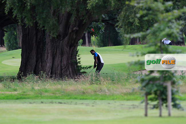 Gary O'Flaherty (Cork) on the 16th during round 2 of the Leinster Mid Amateur Open Championship in Grange Golf Club on Friday 8th August 2014.<br /> Picture:  Thos Caffrey / www.golffile.ie