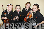 ENJOYING: Enjoying themselves were the young musicians from Listowel, as they entertained the crowd who were at the Lisselto/Ballydonoghue Community Games Music competition in the Abbeydorney Community Centre on Saturday L-r: Fionnuala Trench,Sarah Moriarty, Robyn Doyle and Rebecca Garvey............. ....