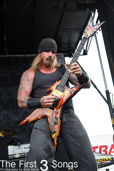 Rusty Coones of ATTIKA 7 performs during the 2013 Mayhem Festival at Klipsch Music Center in Indianapolis, Indiana.