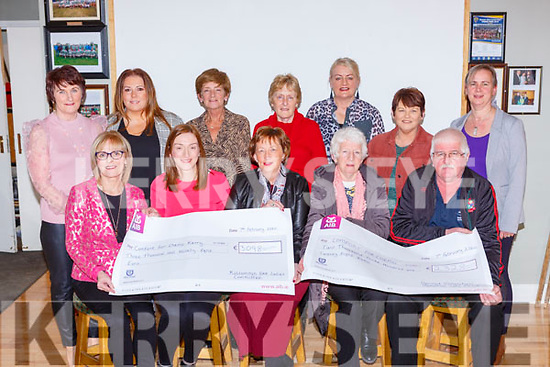 Kilcummin GAA ladies presenting the proceeds from their Pink for Cancer and and a Memorial Card drive to Comfort for Chemo in Kilcummin Klub bar on Friday night front row l-r: Carmel O'Riordan, Elaine Coffey, MAry Fitzgerald Comfort foe Chemo, Mary Moynhan and Tom Ulick O'Sullvan. Back row: Back row: Kathleen Ryan, Antoinette Cronin, Sara Scanlon, Kate Fleming, Eileen O'Leary, Teresa Casey, Louise Moynihan