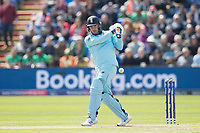 Jason Roy (England) pulls to the mid wicket boundary during England vs Bangladesh, ICC World Cup Cricket at Sophia Gardens Cardiff on 8th June 2019