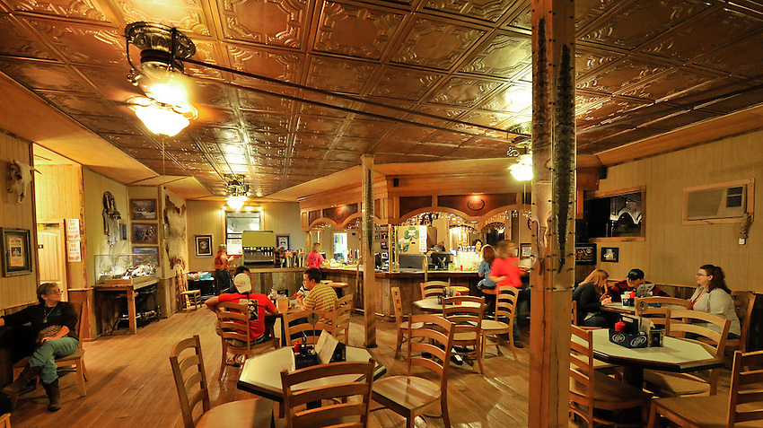 Rattlesnake Saloon near Tuscumbia, AL.  Interior view of saloon.   (The Huntsville Times/Bob Gathany Photographer)