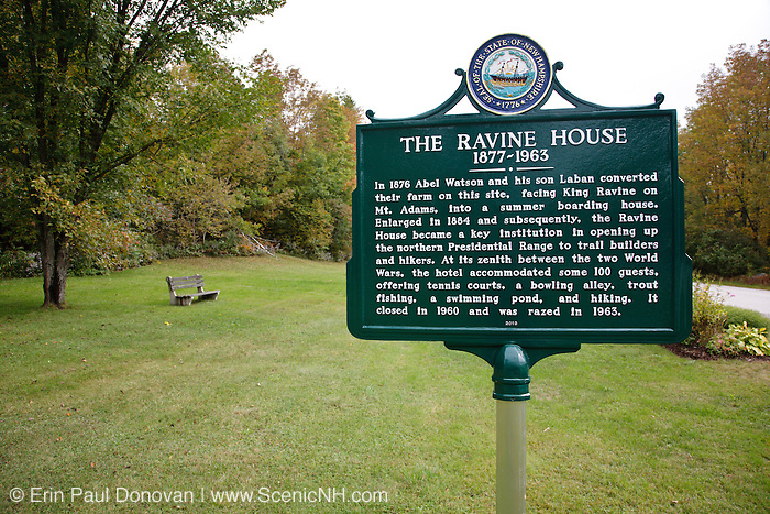 The Ravine House Site (1877 - 1963) in Randolph, New Hampshire. It was closed in 1960 and razed in 1963.