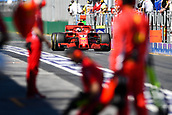 23rd March 2018, Melbourne Grand Prix Circuit, Melbourne, Australia; Melbourne Formula One Grand Prix, Friday free practice; Kimi Raikkonen of Finland driving the (7) Ferrari SF71H towards the pits