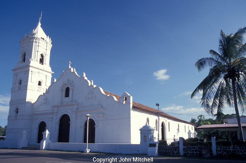 The Iglesia de Nata in the town of Nata, Cocle province, Panama. This restored colonial church is said to be the oldest functioning church in Panama.