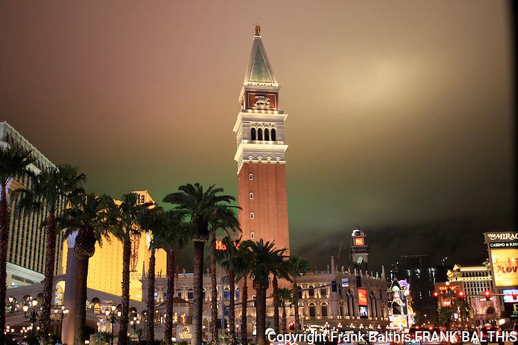 Las Vegas on February evening