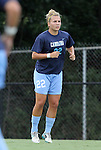 09 September 2011: North Carolina's Amber Brooks. The University of North Carolina Tar Heels defeated the University of North Carolina Greensboro Spartans 2-0 at Koskinen Stadium in Durham, North Carolina in an NCAA Division I Women's Soccer game.