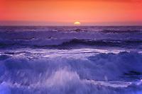 California, Pacific Ocean at sunset