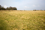 Earthwork embankments part of the  prehistoric Neolithic settlement site at Durrington Walls, Wiltshire, England, UK