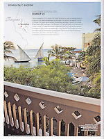 Cond&eacute; Nast Traveler (Russian edition), February 2012, &quot;Room with a View&quot; feature.<br />
