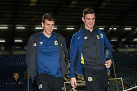 Blackburn Rovers' Richard Smallwood and Darragh Lenihan arriving at the stadium<br /> <br /> Photographer Andrew Kearns/CameraSport<br /> <br /> The EFL Sky Bet League One - Portsmouth v Blackburn Rovers - Tuesday 13th February 2018 - Fratton Park - Portsmouth<br /> <br /> World Copyright &copy; 2018 CameraSport. All rights reserved. 43 Linden Ave. Countesthorpe. Leicester. England. LE8 5PG - Tel: +44 (0) 116 277 4147 - admin@camerasport.com - www.camerasport.com
