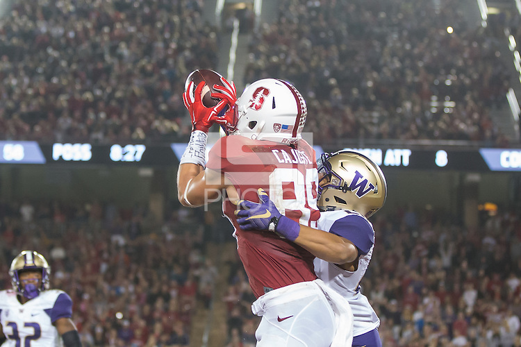 Stanford, CA - October 24, 2015: Stanford vs Washington at Stanford Stadium. The Cardinal defeated the Huskies 31-14.