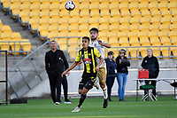Wellington Phoenix' Sarpreet Singh in action during the A League - Wellington Phoenix v Newcastle Jets at Westpac Stadium, Wellington, New Zealand on Sunday 21 October  2018. <br /> Photo by Masanori Udagawa. <br /> www.photowellington.photoshelter.com