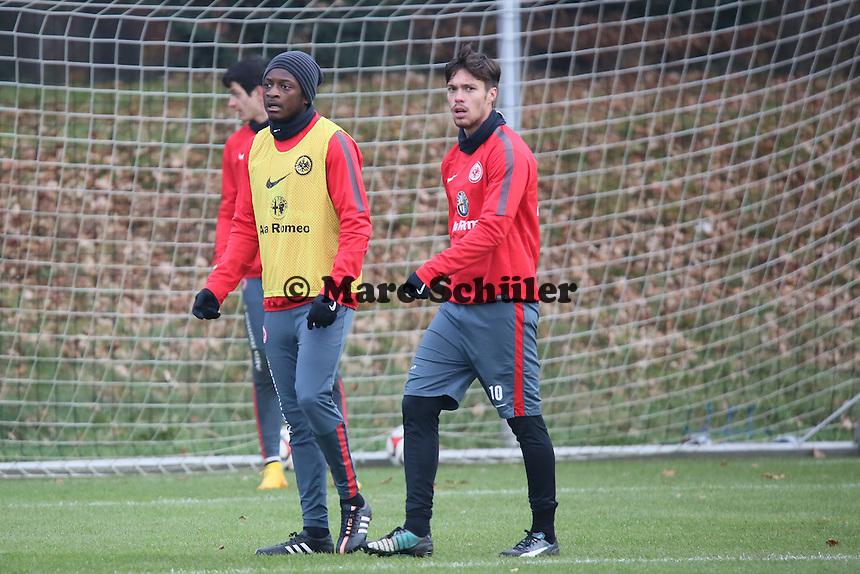 David Kinsombi und Vaclav Kadlec (Eintracht) - Eintracht Frankfurt Training, Commerzbank Arena