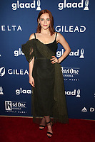 BEVERLY HILLS, CA - APRIL 12: Madeline Brewer at the 29th Annual GLAAD Media Awards at The Beverly Hilton Hotel on April 12, 2018 in Beverly Hills, California. <br /> CAP/MPIFS<br /> &copy;MPIFS/Capital Pictures