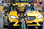 Dylan Groenewegen (NED) Team Jumbo-Visma dropped during Stage 2 of the 2019 Tour de France a Team Time Trial running 27.6km from Bruxelles Palais Royal to Brussel Atomium, Belgium. 7th July 2019.<br /> Picture: Colin Flockton | Cyclefile<br /> All photos usage must carry mandatory copyright credit (© Cyclefile | Colin Flockton)