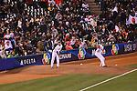 (L to R) .Hirokazu Sawamura (JPN), .Tetsuya Utsumi (JPN), .MARCH 17, 2013 - WBC : .World Baseball Classic 2013 .Championship Round .Semifinal 1 .between Puerto Rico 3-1 Japan .at AT&T Park in San Francisco, California, United States. .(Photo by AFLO) [1040]