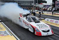 May 6, 2012; Commerce, GA, USA: NHRA funny car driver Cruz Pedregon during the Southern Nationals at Atlanta Dragway. Mandatory Credit: Mark J. Rebilas-