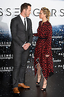 LONDON, UK. December 1, 2016: Chris Pratt &amp; Jennifer Lawrence at the &quot;Passengers&quot; photocall at Claridges Hotel, London.<br /> Picture: Steve Vas/Featureflash/SilverHub 0208 004 5359/ 07711 972644 Editors@silverhubmedia.com