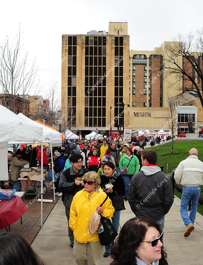 Dane County Farmer's Market on the State Capitol square on Saturday, April 16, 2011, in Madison, Wisconsin