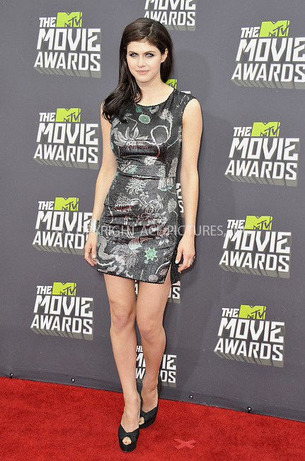 WWW.ACEPIXS.COM....April 14 2013, LA......Alexandra Daddario arriving at the 2013 MTV Movie Awards at Sony Pictures Studios on April 14, 2013 in Culver City, California. ....By Line: Peter West/ACE Pictures......ACE Pictures, Inc...tel: 646 769 0430..Email: info@acepixs.com..www.acepixs.com