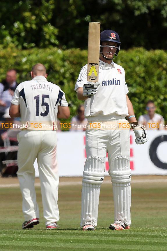 Tom Westley of Essex CCC celebrates scoring a half-century, 50 runs