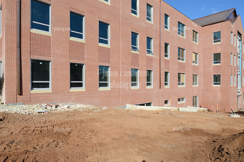 Central Connecticut State University.  New Academic Building.  Project No: BI-RC-324.Architect: Burt Hill Kosar Rittelmann Associates    Contractor: Gilbane Building Company, Glastonbury, CT..James R Anderson Photography   New Haven CT   photog.com.Date of Photograph: 18 October 2012   Image No. 15.Camera View: Northeast. South Elevation.
