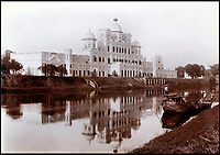 BNPS.co.uk (01202 558833)<br /> Pic: CanterburyAuctionGalleries/BNPS<br /> <br /> Chattar Manzil in Lucknow.<br /> <br /> A Scottish photographer's stunning collection of photos of India and Afghanistan in the 1880s have been unearthed after 130 years.<br /> <br /> G.W Lawrie set up a studio in Lucknow, northern India in the 1880s and took captivating black and white photos of his new surroundings.<br /> <br /> Included in the collection of 40 photos are views of lavish temples including the King of Oudh's palace in Lucknow, opulent buildings and beautiful scenery.<br /> <br /> However, Lawrie was also interested in the native population and took photos of them going about their everyday lives.