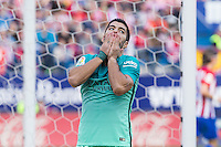 Luis Suarez of Futbol Club Barcelona reacts  during the match of Spanish La Liga between Atletico de Madrid and Futbol Club Barcelona at Vicente Calderon Stadium in Madrid, Spain. February 26, 2017. (ALTERPHOTOS) /NortEPhoto.com