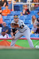 Trenton Thunder first baseman Dante Bichette (29) during a game against the Binghamton Mets on August 8, 2015 at NYSEG Stadium in Binghamton, New York.  Trenton defeated Binghamton 4-2.  (Mike Janes/Four Seam Images)