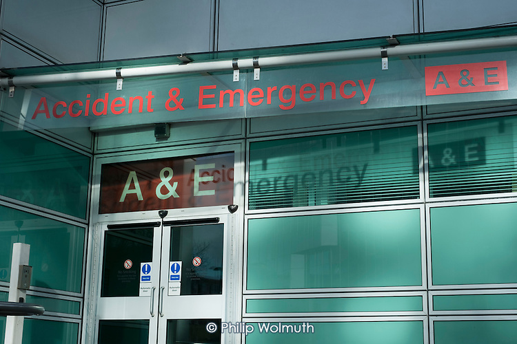 Accident & Emergency entrance to University College London Hospital.