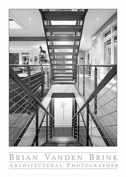 STAIRCASE, Private Residence, Camden, Maine, Elliott + Elliott Architecture © Brian Vanden Brink, 2010