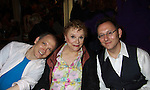 """One Life To Live Charles Busch """"Peg Barlow"""" and Carole Shelley """"Babe Bartlett"""" (& AMC """"June Hagan"""" & A/W """"Iris Corey"""" and Michael Emerson (Point of Interest) attend the 25th Annual Broadway Flea Market & Grand Auction to benefit Broadway Cares/Equity Fights Aids on September 25, 2011 in New York CIty, New York.  (Photo by Sue Coflin/Max Photos)"""